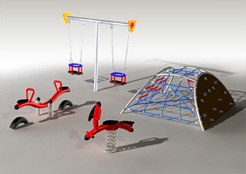 Wonderland- metalowy plac zabaw odpowrny na zniszczenia