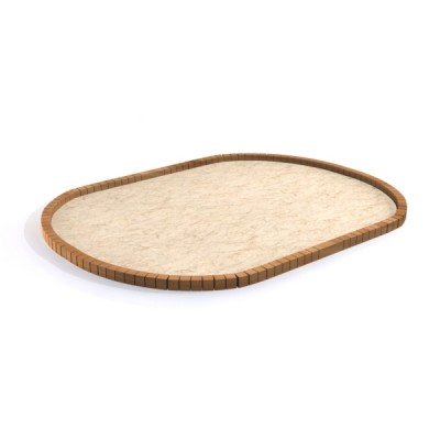 obrzeże do piaskownicy z drewna