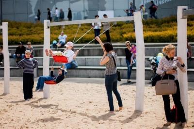 plażowy plac zabaw przy galerii malta